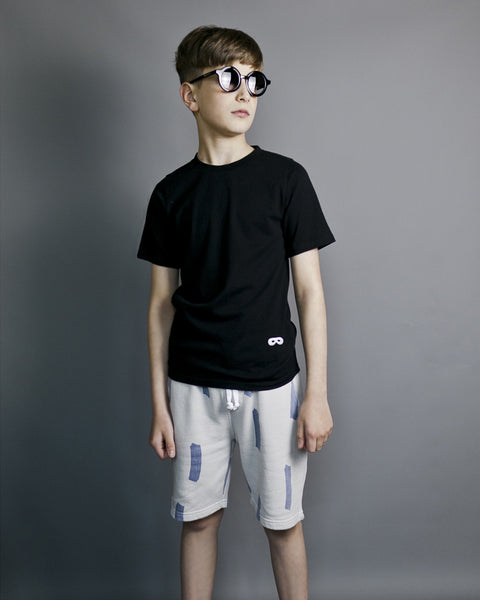Short Sleeve Fin T-Shirt - Inky Black
