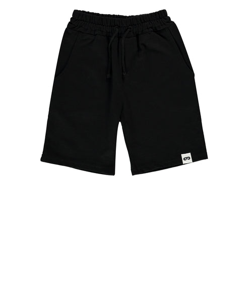 Drawstring Long Shorts - Inky Black