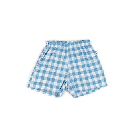 Poplin Shorts - Blue Gingham