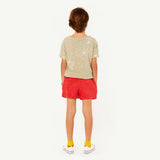 Poodle Kids Shorts - Red Shells
