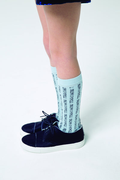Titicaca High Socks - Light Blue/Dark Navy