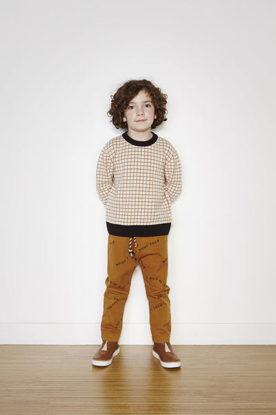Many Words Woven Pant - Brown