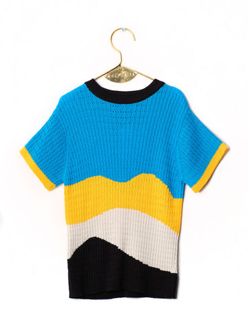 Virgina Jumper - Blue/Knit