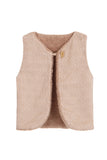 Fleece Waist Coat - Pink Vintage