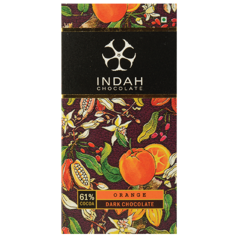 Indah 61% Dark Chocolate - Orange - Indah Chocolate