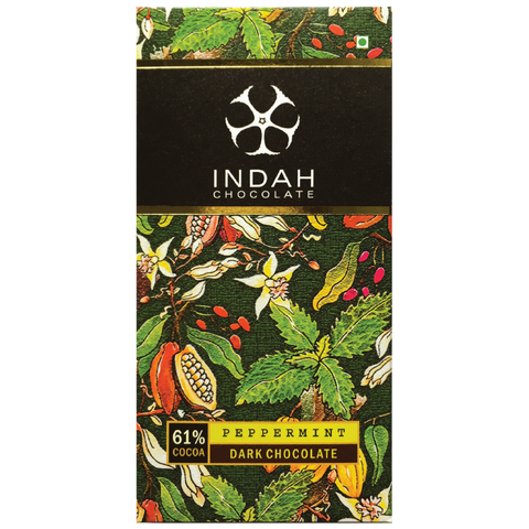 Indah 61% Dark Chocolate - Peppermint - Indah Chocolate