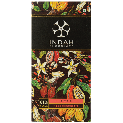 Indah 61% Dark Chocolate - Pure - Indah Chocolate