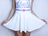 White Skirt With QingHua Heart Belt