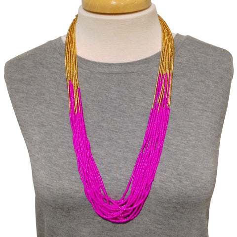 Sabitri Necklace - Magenta