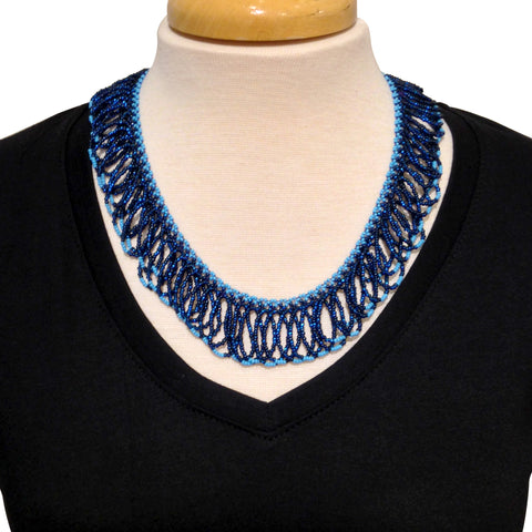 Giri Necklace - Dark Blue