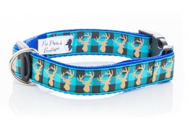 Blue Stag Heritage Dog Collar