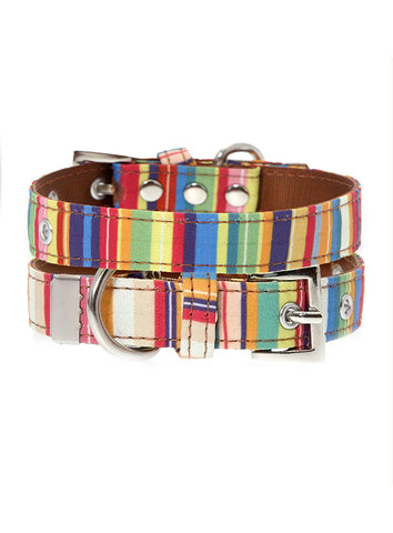 Urban Pup Henley Striped Fabric Collar