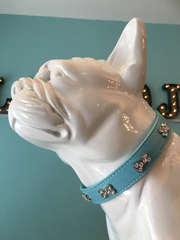 Barking Bling Bone Dog Collar