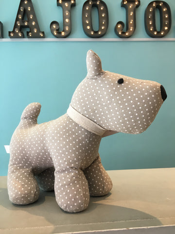 Polka Dot Dog Doorstop