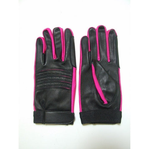 Soft Black Leather Riding Gloves