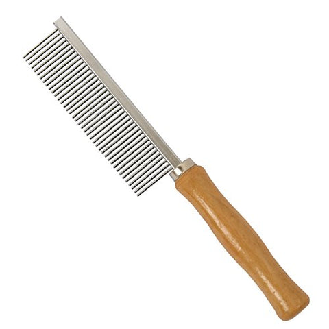 Metal Tooth Wooden Handle Comb