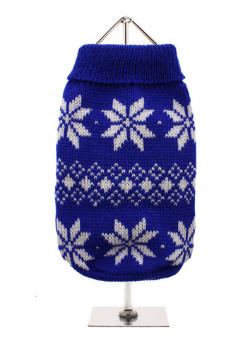 Urban Pup Blue Snowflake Knitted Sweater