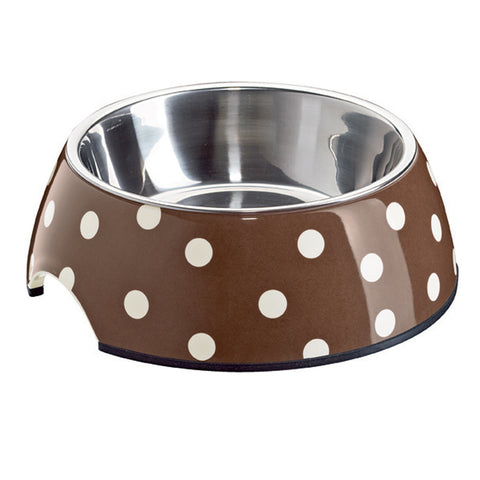 Melamine Dots Dog Bowl