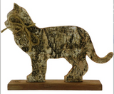 Silver Birch Wooden Cat Silhouette