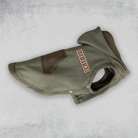 Dogissimo Military Hooded Sweatshirt for Frenchie