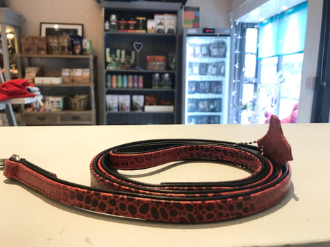 Snake Skin Style Leather Lead