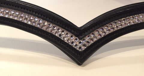 Swarovski English Leather Browband