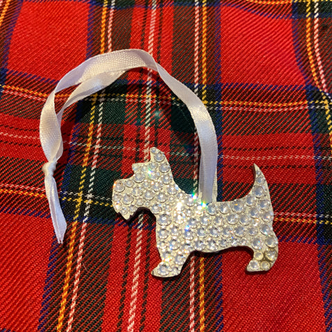 Swarovski Crystal Double Scottie Decoration