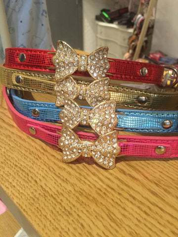 Barking Bling Diamante Bow Collar