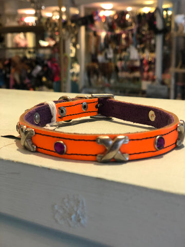 Bright Orange Cross Collar