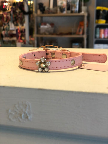 Pink Flower Diamante collar