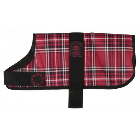 Outhwaite Red Tartan Dog Coat