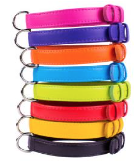 Colourful Soft Leather Dog Collar
