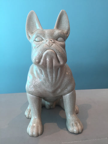 Crackle Effect Frenchie Ornament
