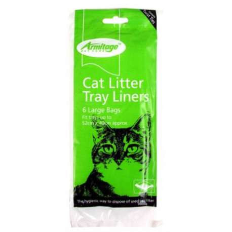 Armitage Pet care Cat Litter Tray Liners Large 6 Pack