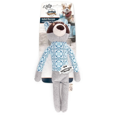 All For Paws Vintage Jacket Racoon Toy