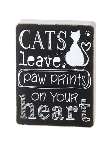 Wooden Cat Lovers Sign