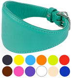 Greyhound Soft Leather Collar