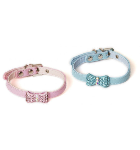 Crystal Bow Soft Collar