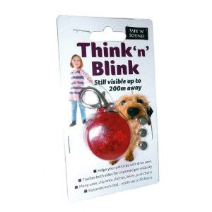 Think n' Blink Flashing Dog LED Safety Light