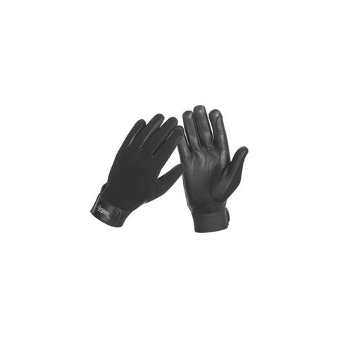 Synthetic Gloves with Velcro Wrist Black