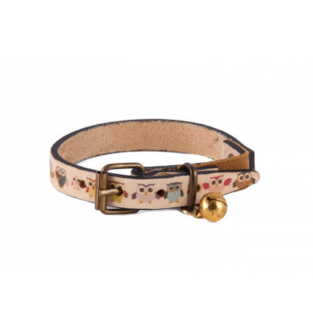 Handmade Leather Safety Cat Collar
