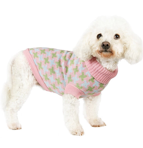 Urban Pup Pink/Green Cross Sweater