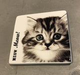 Cute Kitten & Puppy Ceramic Coasters