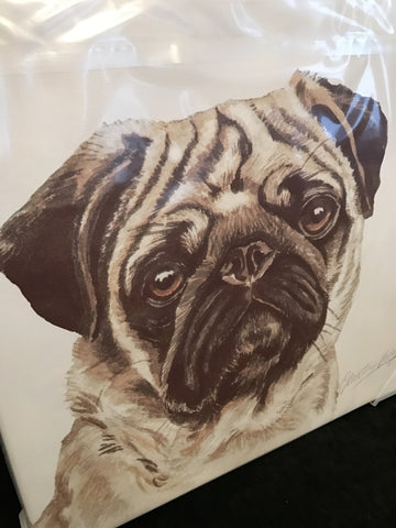 Waggy Dogz Pug Canvas
