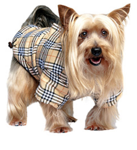 Urban Pup Brown Tartan Coat
