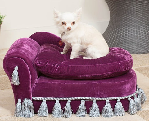 Elska Purple Liberace Day Dog Bed