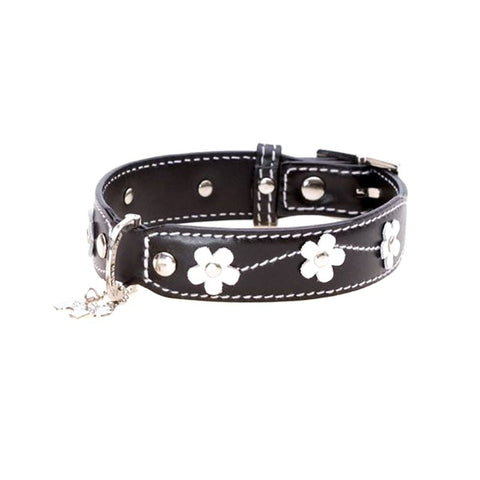 Hamish McBeth Leather Lucy Flower Collar