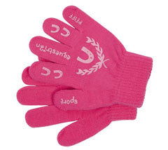 Children's Pink Riding Gloves