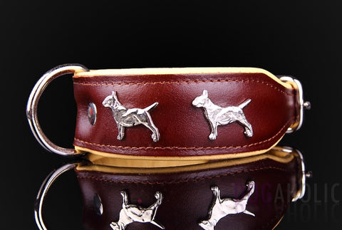 Dogaholic English Bull Terrier Leather Dog Collar