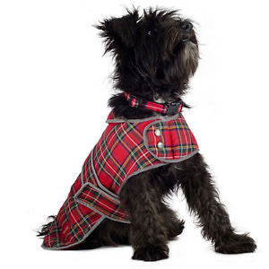 Highland Red Tartan Dog Coat